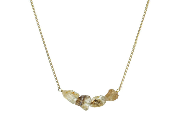 Donya Necklace - Yellow Topaz