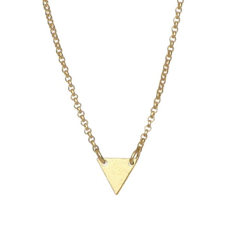 Small Gold Triangle Necklace