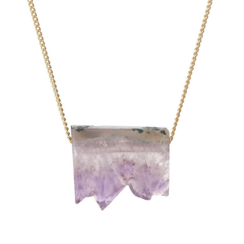 Slider Necklace - Amethyst Stalactite