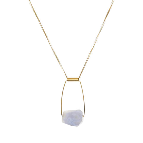 Taryn Necklace - Natural Chalcedony