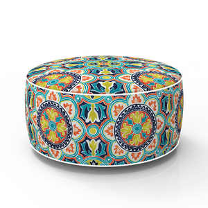 Home Comforts - Moroccan Market Inflatable round pouf