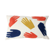 Load image into Gallery viewer, Home Comforts - Mid Century Modern Style Hands Lumbar Pillow