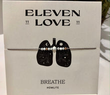 Load image into Gallery viewer, Eleven Love Wish Bracelet BREATHE - Howlite & Rose Gold Hematite