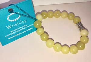 WristJoy Gemstone Bracelet Yellow Jade