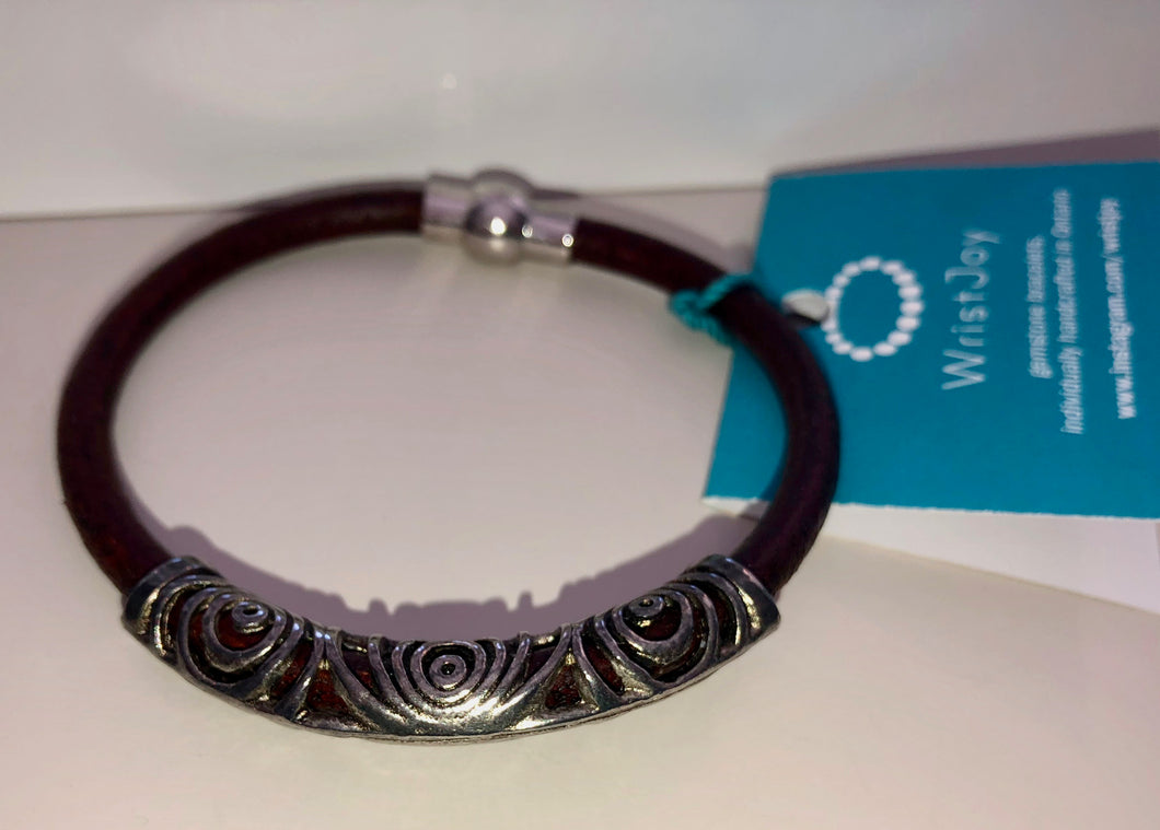 WristJoy Gemstone Bracelet Swirl Bar