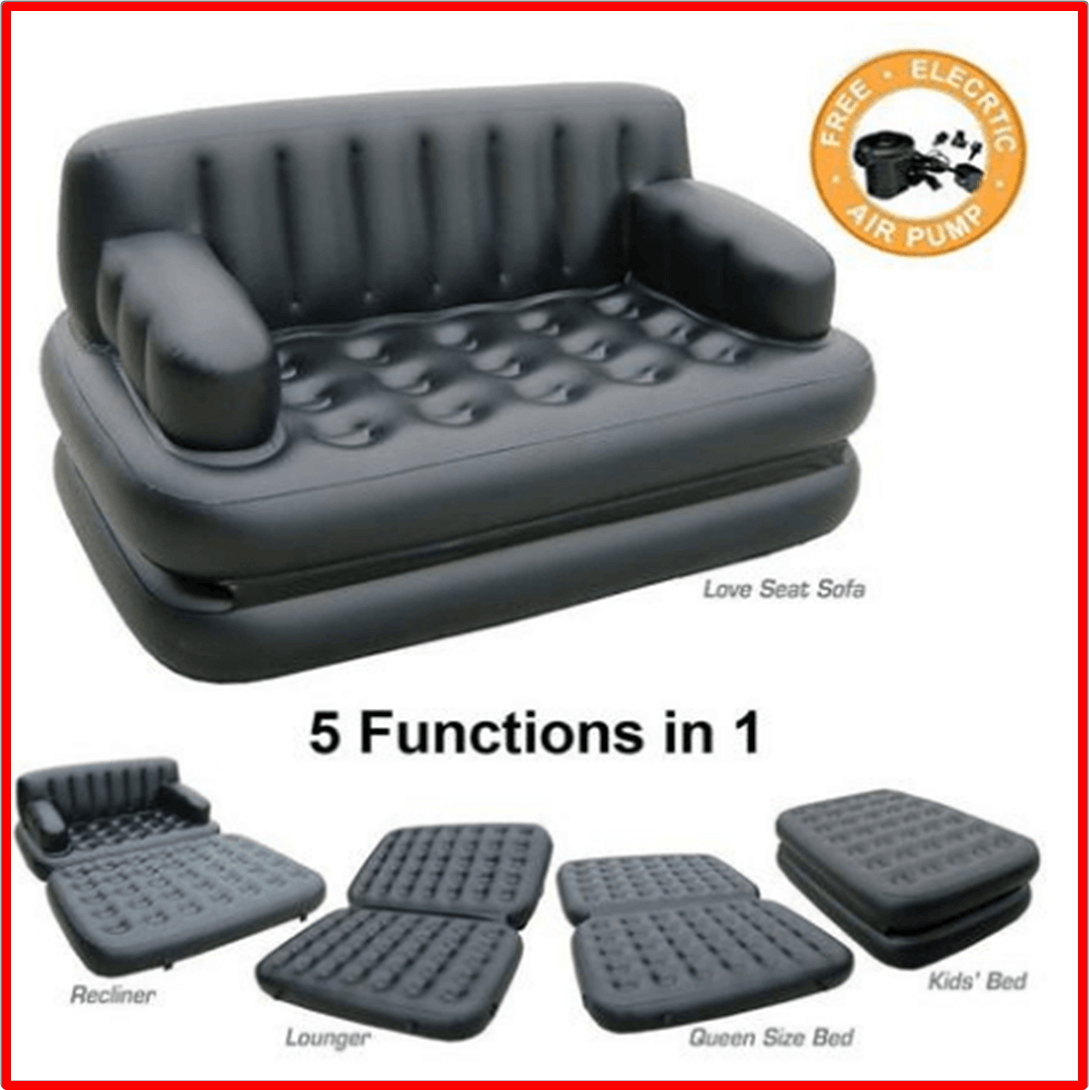Portable 5 In 1 Sofa Bed Tick Tock