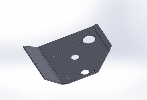 Willys Jeep Belly Pan Skidplate in 1/4