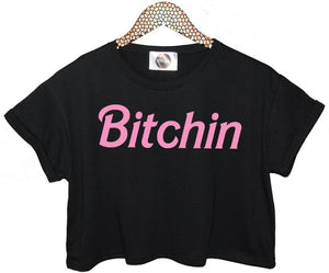 Bitchin Pink Letters - teefortee