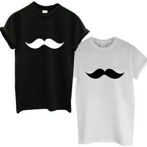 MOUSTACHE Print Women Tshirt Cotton - teefortee