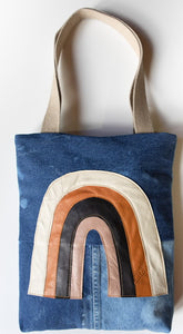 Esther Denim Tote Rainbow Neutral
