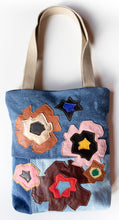 Esther Denim Tote Flowers
