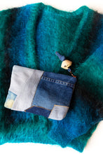 Patchwork Denim Clutch