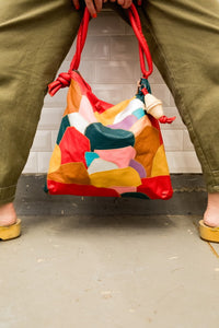 "Patchwork Rolan Hobo Bag ""Confetti"""