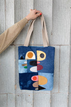Esther Denim Tote Abstract