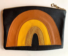 Recycled Leather Pouch - Tan yellow Gold