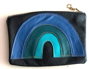 Rainbow pouch - blues