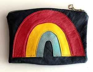Rainbow pouch - redyellowblue