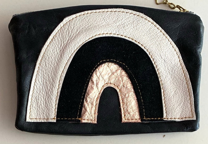 Rainbow pouch - whiteblackcopper