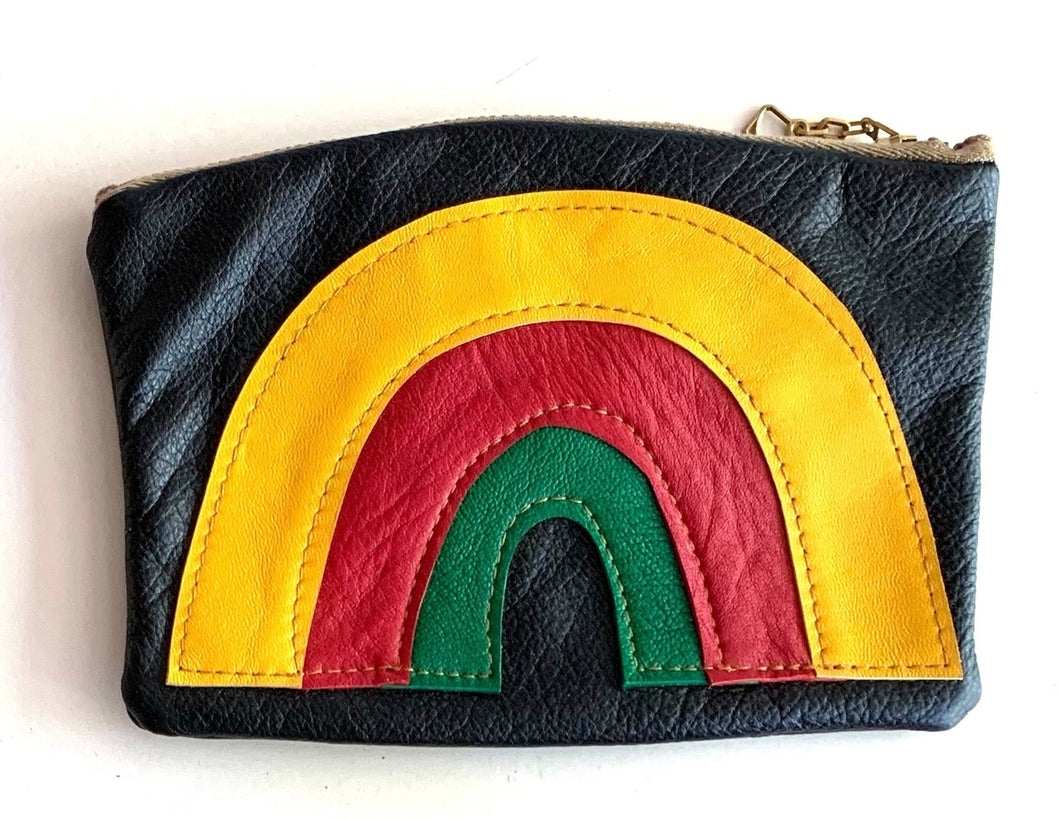Rainbow pouch - yellowredgreen