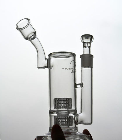 Double Matrix Percolator Clear Bong Or Dab Rig
