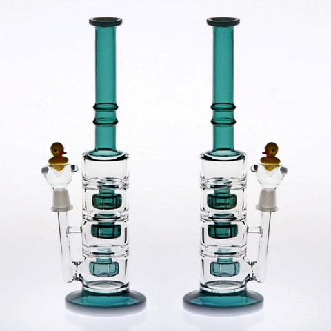 Triple-Perc Quacker Bong