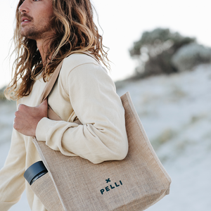 'Turn the Tide' Shopping Bag - Earth and Ocean Jute