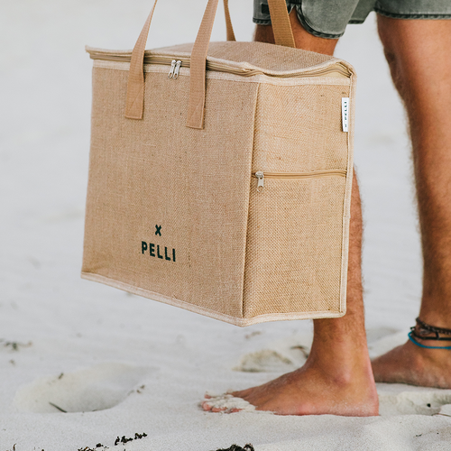 'Chill Homie' Picnic Bag - Earth and Ocean Jute