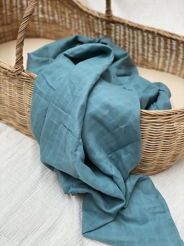 Peacock Teal Swaddle