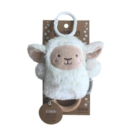 Lee Lamb Wooden Teether and Rattle