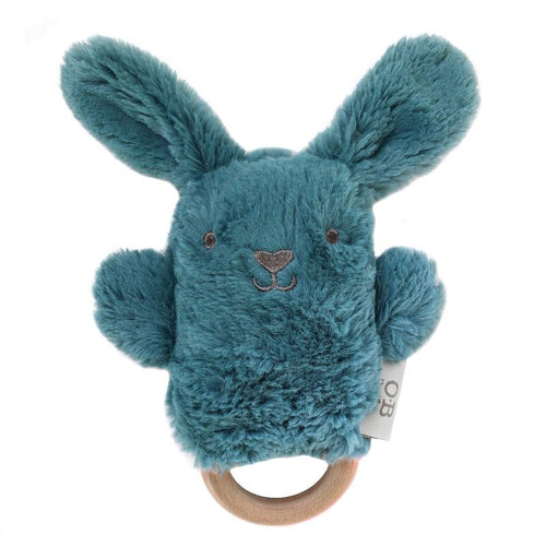 Banjo Bunny Wooden Teether and Rattle