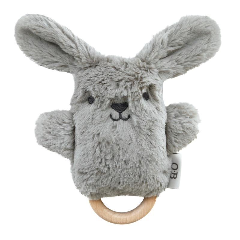 Bodhi Bunny  - Wooden Teether and Rattle