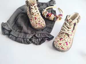 Aria Boots - Floral