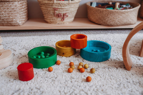 Stacking and Nesting Bowls - Naturally Coloured
