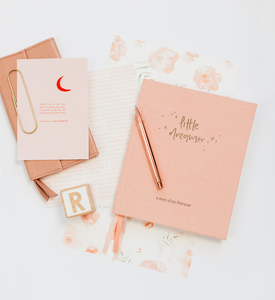 Little Dreamer - Baby Journal - PETAL PINK