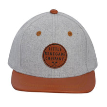Load image into Gallery viewer, Grey Felt and Tan Snapback Cap