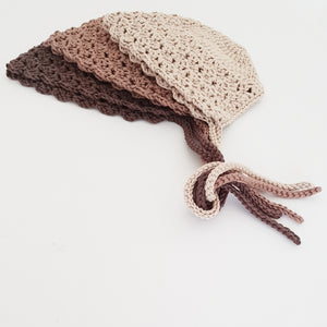 Espresso Bamboo Bonnet and Bootie Set
