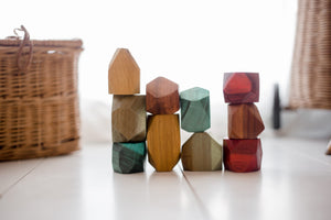 Coloured Wooden Gems