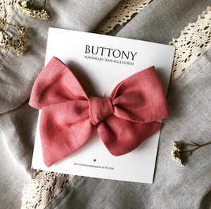 Deep Vermillion Oversized Pinwheel Bow