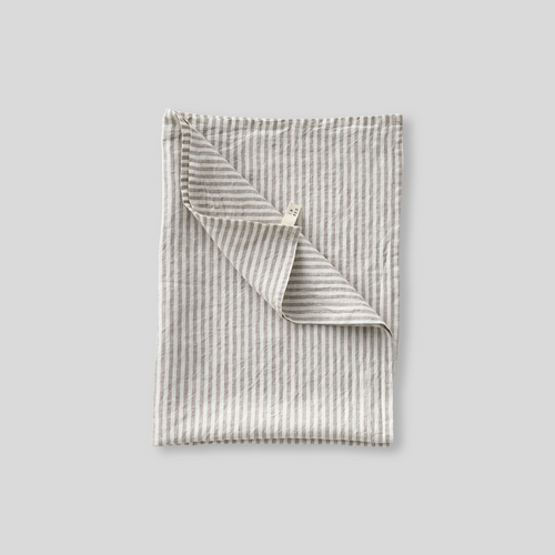 100% Linen Tea Towel in Stripe