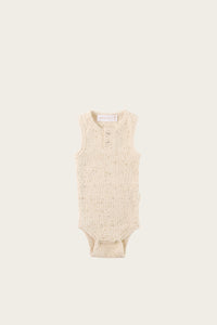 Ribbed Singlet Bodysuit - Honey