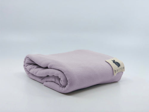 Lilac Swaddle and Beanie Set