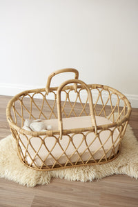 Fitted Bassinet Sheet - Sand
