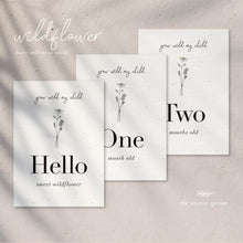 Load image into Gallery viewer, 'Wildflower' Eco-Friendly Baby Milestone Cards
