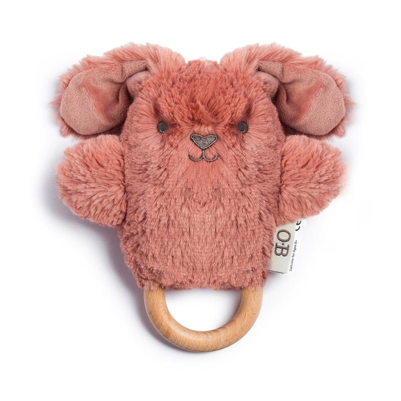 Bella Bunny - Wooden Teether and Rattle
