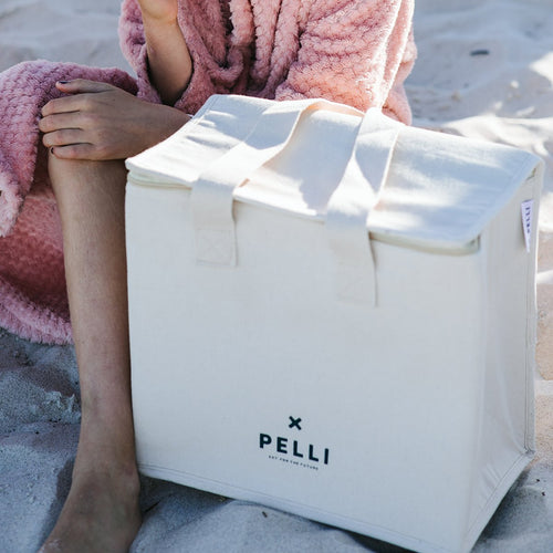'OK Chill' Cooler Bag - Sand and Shore Calico