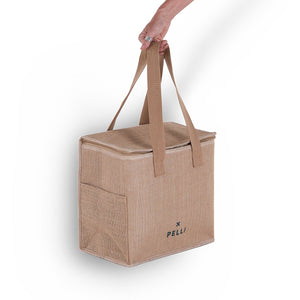 'OK Chill' Cooler Bag - Earth and Ocean Jute