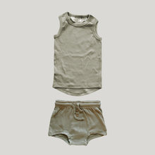 Load image into Gallery viewer, ORGANIC PJ Singlet Shorties Set - Sage