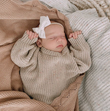 Load image into Gallery viewer, Heirloom Knit Blanket - Dusty Peach