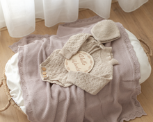 Load image into Gallery viewer, Heirloom Knit Blanket - Dusty Rose