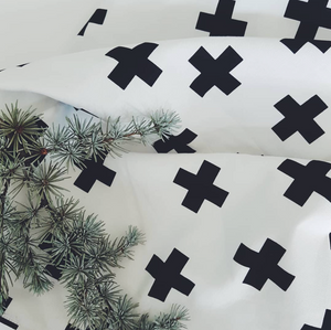 Monochrome Cross Baby Blanket